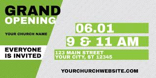 Grand Opening Postcards Grand Opening Invite Green Postcard Church Postcards Outreach
