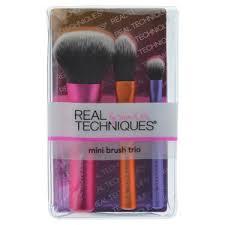 real techniques full brush set. mini brush trio real techniques full set