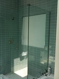 Frameless glass shower door- corner enclosure modern-bathroom