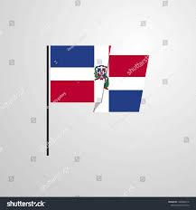 Dominican Flag Design Dominican Republic Waving Flag Design Vector Stock Vector