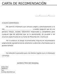 Formato De Cartas Personales Talleres Word Cartas De Recomendacion Cartas Y Formato De