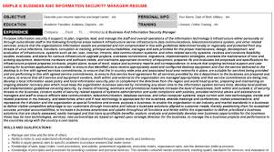 E Business And Information Security Manager Resume Cover Letter