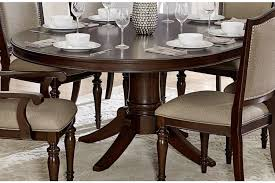 marston round pedestal dining table w extension leaf