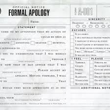 Doc 600730 Formal Apology Letters Sample Formal Apology Letter