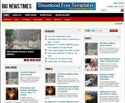 Free Blogger Template Newspaper Style Best Business Templates