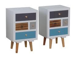Paket 2x Pkline Nachttisch Holz Nachtschrank Nachtkonsole