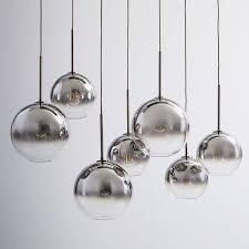 globe lighting chandelier. Sculptural Glass Globe 7-Light Chandelier - Mixed (Metallic Ombre) | West Elm Lighting 7