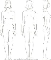 female body outline template female body outline drawing clipartxtras