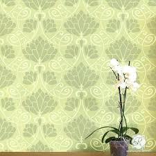 fl wall stencil lotus flower retro vintage art wallpaper pattern large mural modern flow flower wall stencils