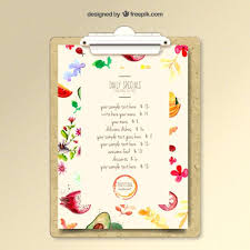 Sample Menu Planning Template 9 Free Documents In Word Daily ...