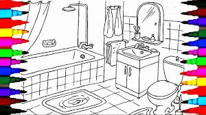 Small Picture Coloring Pages Bathrooms l Bath Tub l Toilet Drawing Pages To