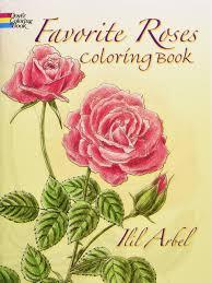 favorite roses coloring book dover nature coloring book ilil arbel 9780486258454 amazon books