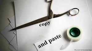 Опасная комбинация или Осторожно плагиат Учеба  symbolic image for copy and paste
