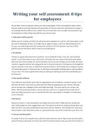 Evaluation Essay Examples Self Review Performance Evaluation Completed Sample Employee