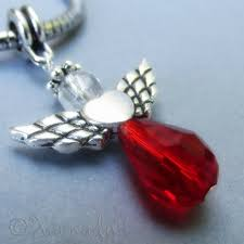 details about ruby red crystal angel european charm bead handmade swarovski crystal pendant