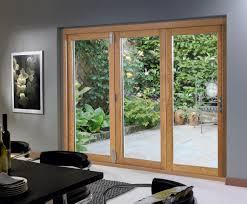 the exterior sliding glass doors