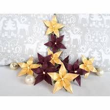 Lichterkette Weihnachtsstern Bordeaux Gold Weihnachtsdeko