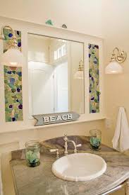 home projects sea glass mirror surround