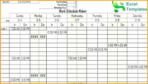 Schedule Maker For Work Free Work Schedule Template Free Work Schedule Maker Template Pretty
