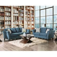 Furniture of America Vellaire Contemporary 2 piece Sofa Set Free