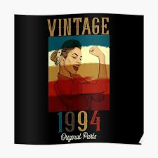 """<b>Vintage 1994 Original</b> Parts"" Poster by Alsghyr66 