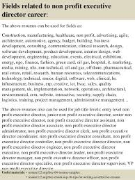 16 fields related to non profit executive director executive director resume sample