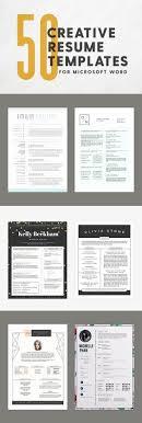 Creative Resume Templates Free Word New Resume Design Templates