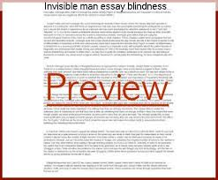 essay on blindness invisible man essay blindness research paper service