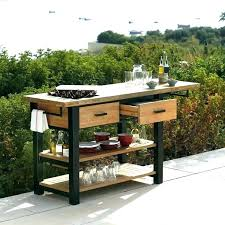 outdoor serving table homemade patio quick view cart pagoda full image station food tabl a81