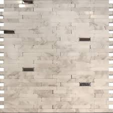 Marble Tile Backsplash Kitchen Sample Stainless Steel Carrara White Marble Stone Mosaic Tile