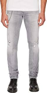 Dsquared2 Jeans Size Chart Amazon Com Dsquared2 Slim Jean Light Grey Broken Wash 46