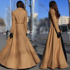 sss vintage long ankle belted dress military jacket floor length