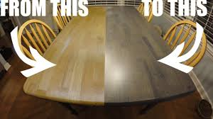 Refinishing The Kitchen Table Worn Out Craigslist To Clean And