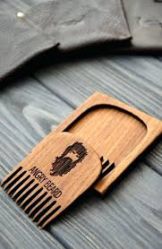 custom beard comb personalized engraved wooden for men him angry moustache hair wood combs