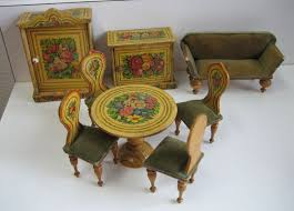 mini doll house furniture. antique miniature german dollhouse paper litho floral furniture 34 mini doll house d