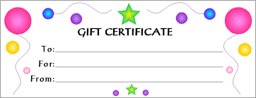 Gift Certificate Template For Kids 262485700072 Free Blank Gift