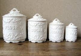 white ceramic kitchen canisters embossed canister set black striped