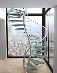 ... Modern Floating Spiral Staircase : Modern Interior Design Idea With  Modern Glass Spiral Staircase Designed With ...