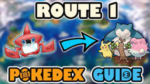 ROUTE 1 COMPLETE POKEDEX GUIDE - Pokemon Sun and Moon - YouTube