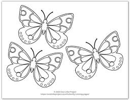 To color butterflies, fish, cats and dogs, an icecream, a pumpkin, pointy hat and a fairy wand try this colouring page. Butterfly Coloring Pages Free Printable Butterflies One Little Project