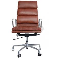 office chairs brown leather. Eames Office Chair High Back Soft Pad EA219 From 45 Degrees Chairs Brown Leather E