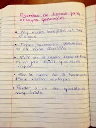 writing personal essays in spanish ensayos personales part i on day 1 of bullet 3 students brainstorm ideas they would like to write about then on day 2 of bullet 3 students start to gather their evidence that