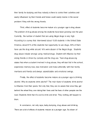 fnbe english essay effect of students mature at a younge