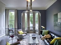 image of nice behr gray and blue living room