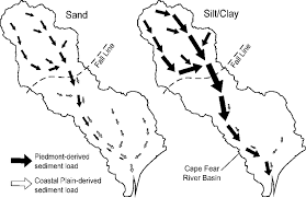Graphic Model Of Sand And Silt Clay Transport In The Cape