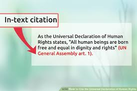ways to cite the universal declaration of human rights wikihow image titled cite the universal declaration of human rights step 6
