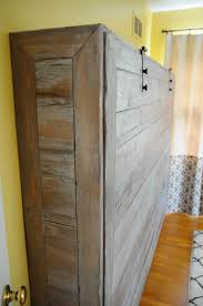 Electric Murphy Bed Rustic Queen Sized Wall Bed Make Panel From Pallet Pieces And Put
