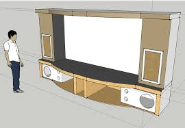 Recessed Curtains To Protect Cool Home Theater Stage