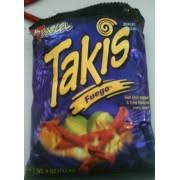 barcel takis fuego hot chili pepper lime nutrition grade d 140 calories