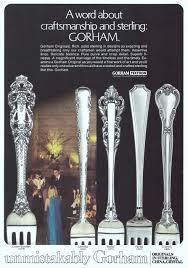 Gorham Sterling Patterns Enchanting Gorham Silversmiths Advertisement Gallery